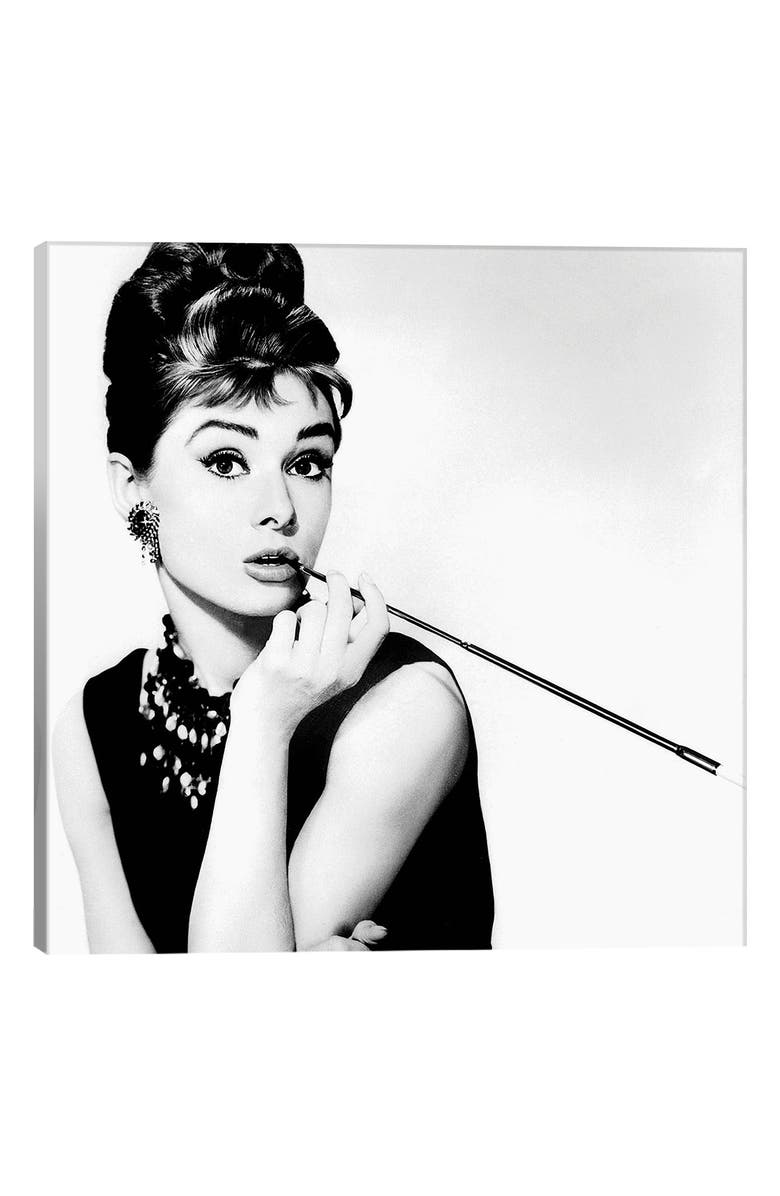 ICanvas Audrey Hepburn Smoking By Radio Days Gicl E Print Canvas Art