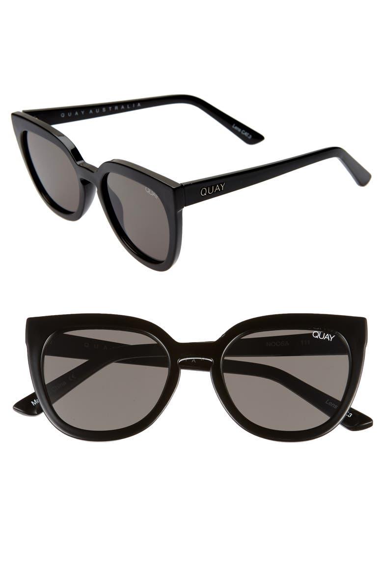 QUAY AUSTRALIA Noosa 50mm Square Sunglasses, Main, color, 010