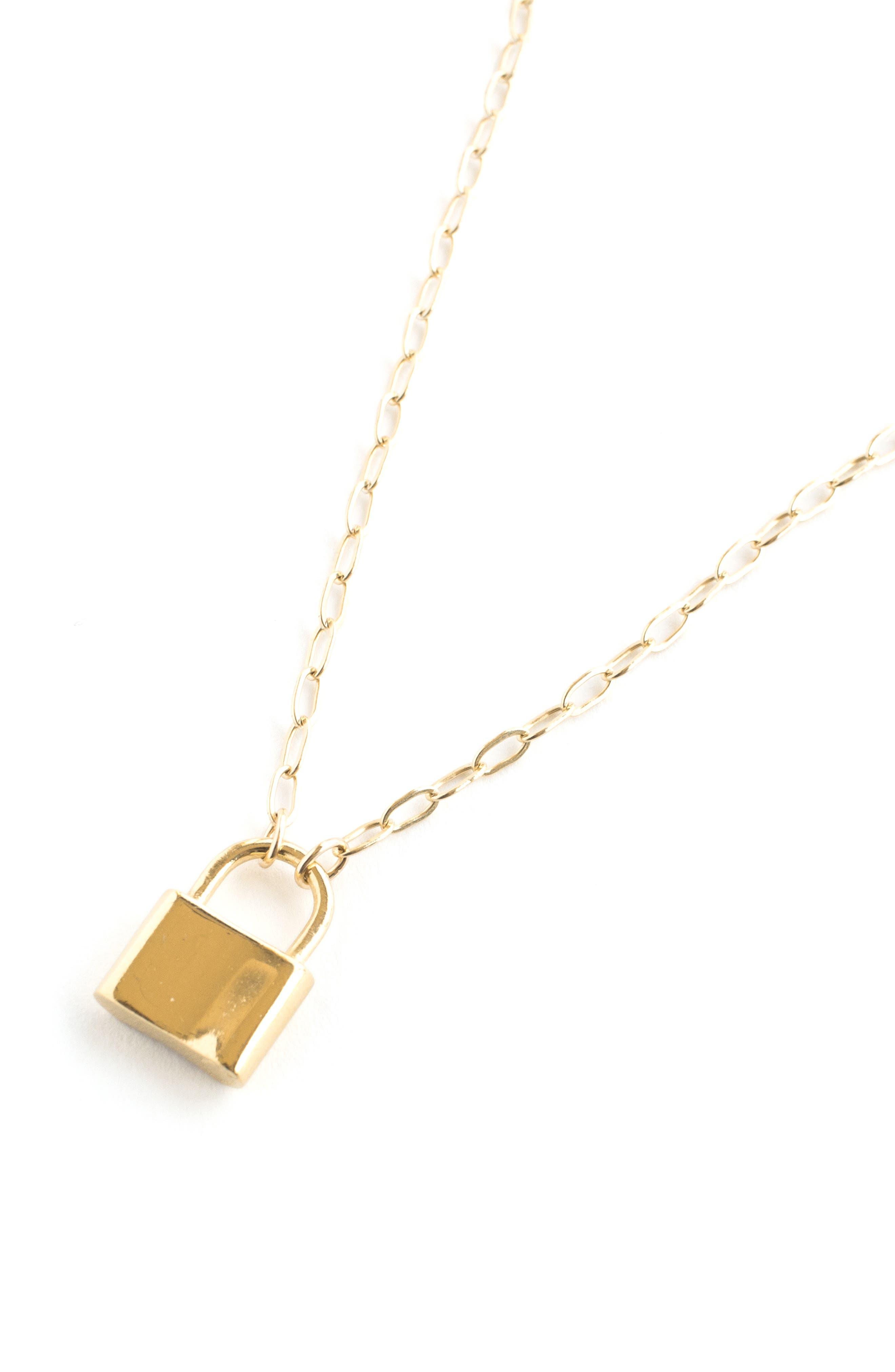 Holmes Lock Pendant Necklace