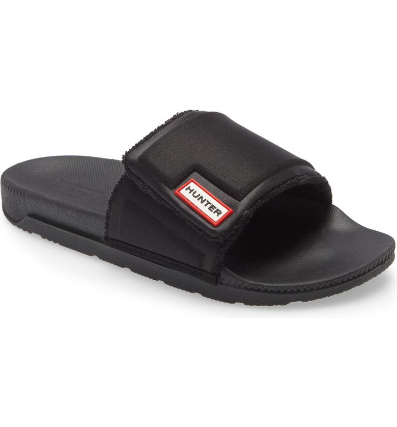 HUNTER Original Slide Sandal, Main, color, BLACK