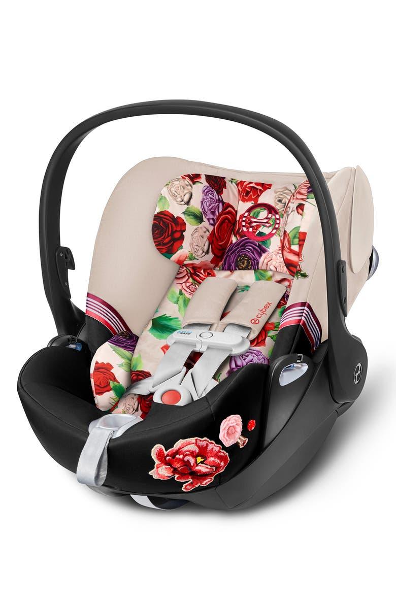 CYBEX Cloud Q SensorSafe<sup>™</sup> 2.1 Blossom Light Infant Car Seat & Base, Main, color, LIGHT BEIGE