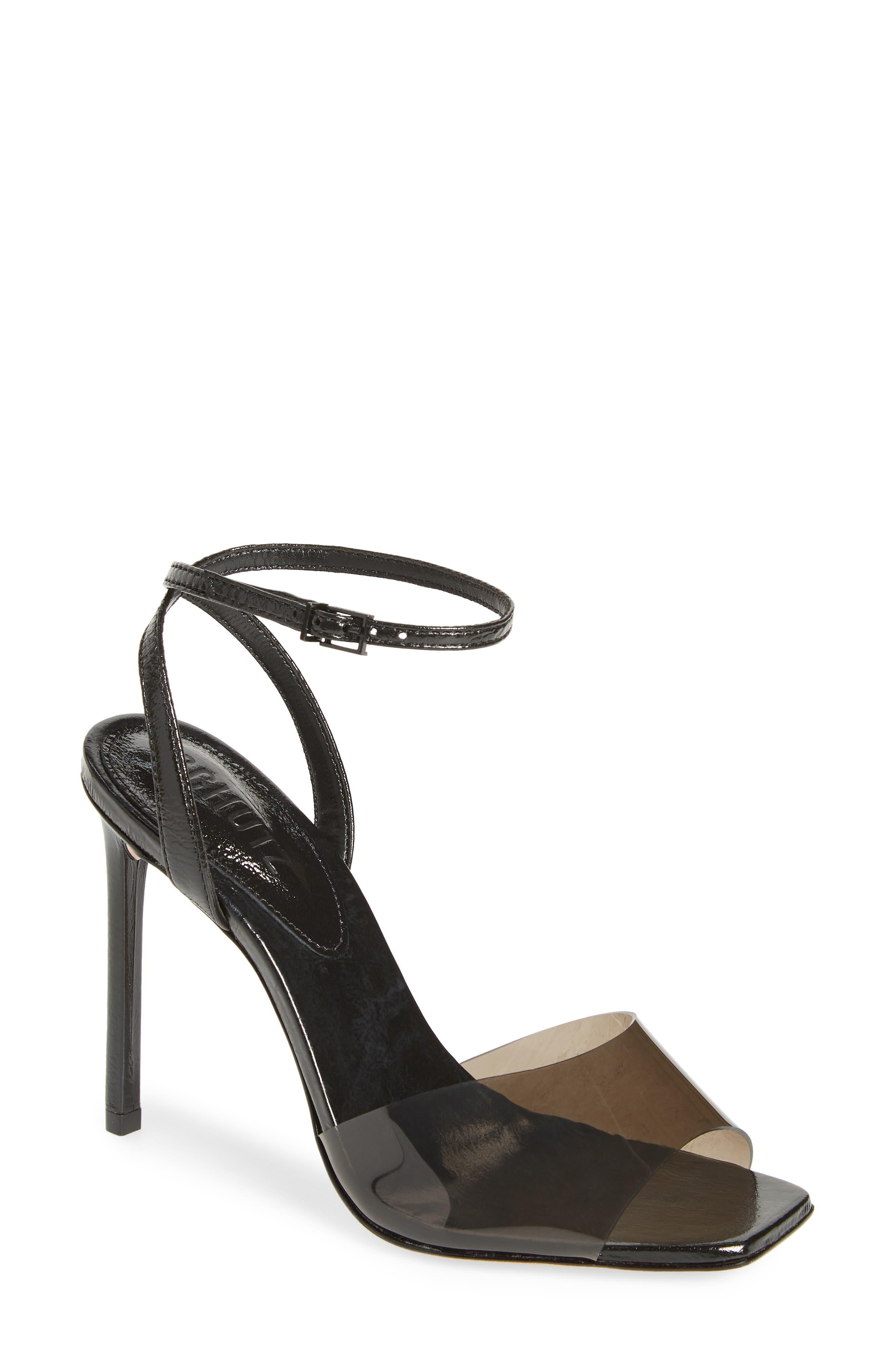 Schutz Slippers Jamili Clear Ankle Strap Sandal
