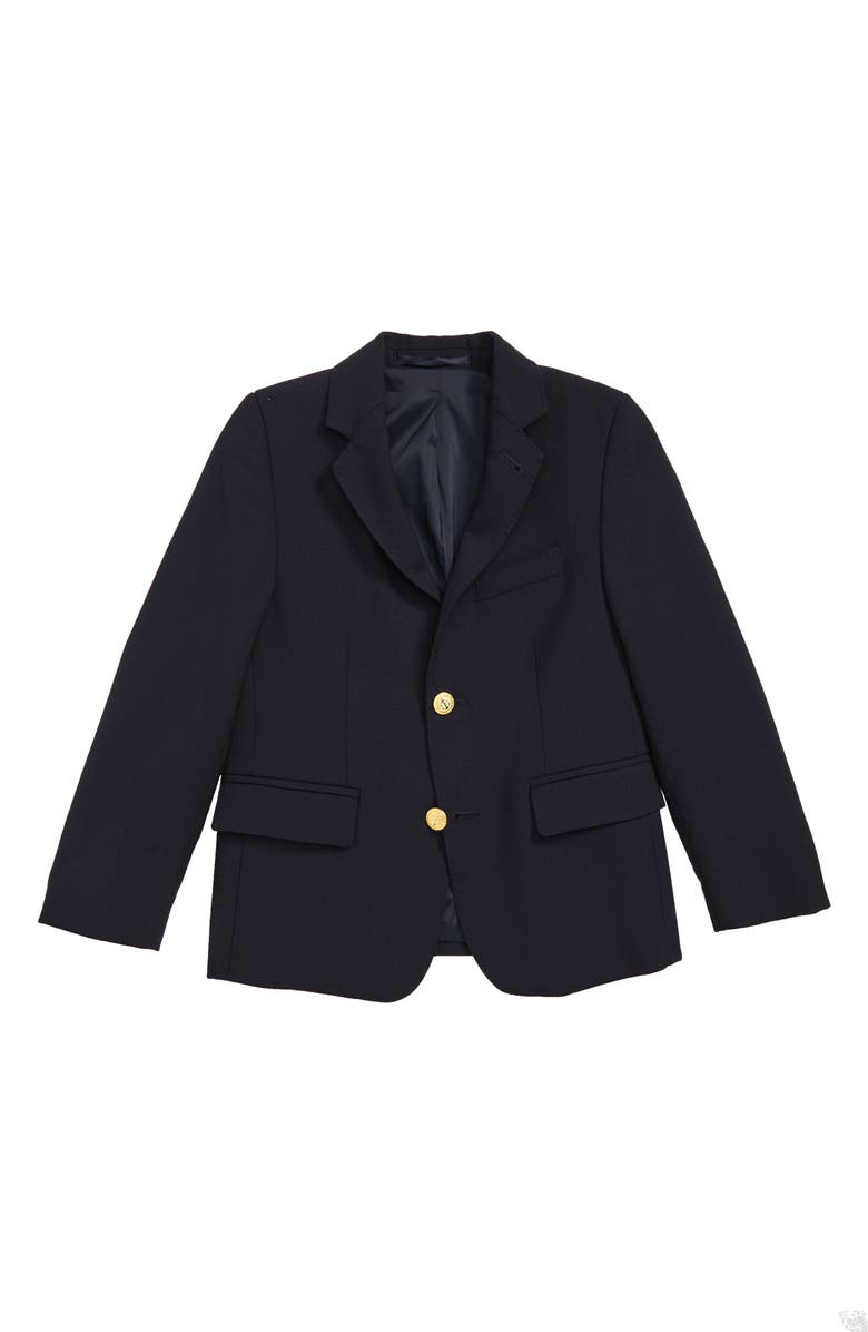 VINEYARD VINES Wool Blazer, Main, color, BLUE BLAZER