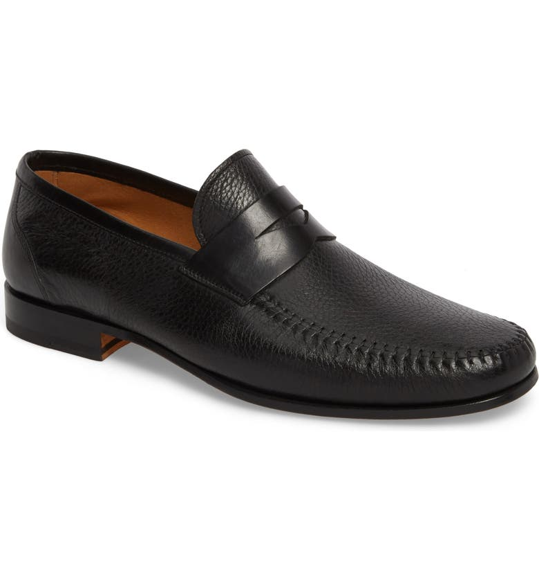 MAGNANNI Ramos Moc Toe Penny Loafer, Main, color, 002