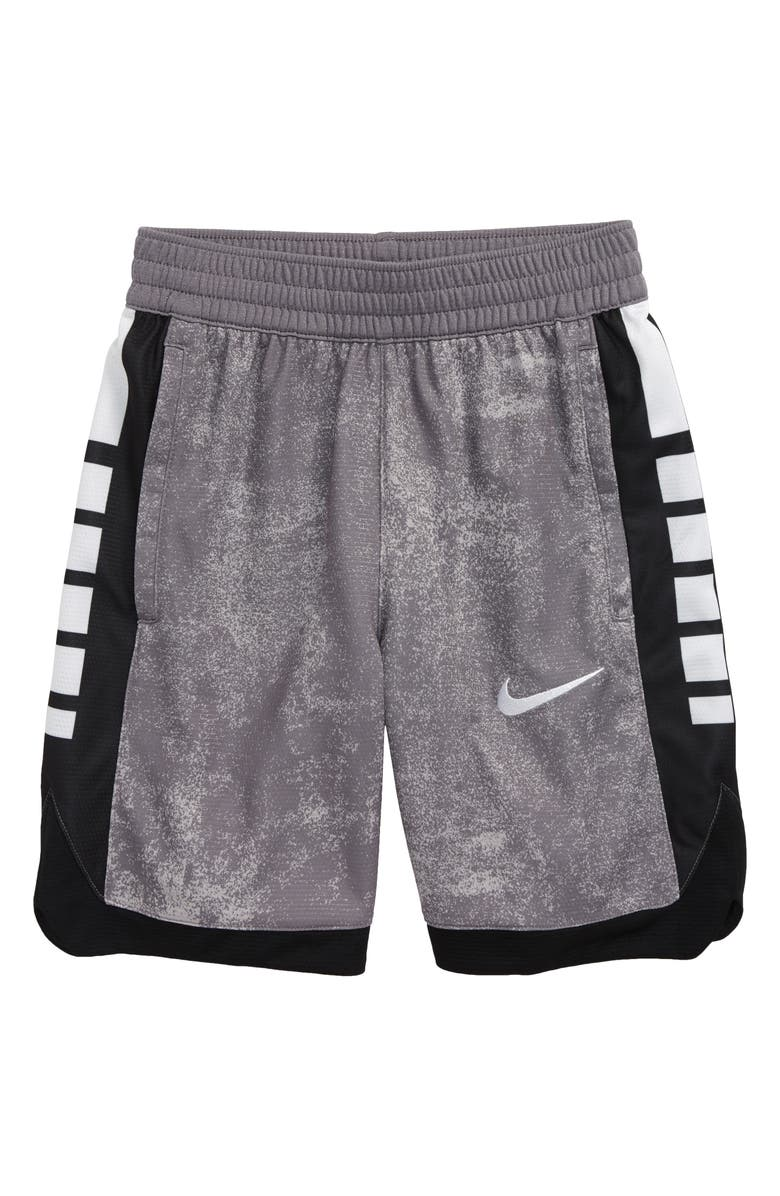 NIKE Dry Elite Super Athletic Shorts, Main, color, GUNSMOKE/ BLACK