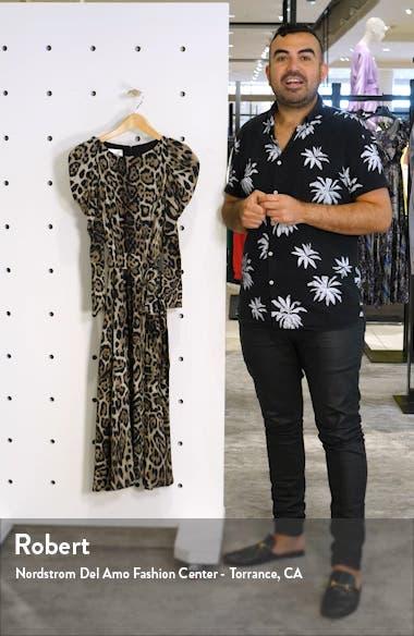 Leopard Print Long Sleeve Midi Dress, sales video thumbnail