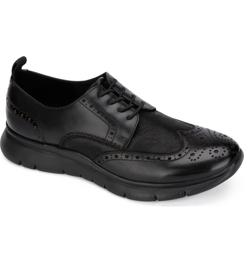 KENNETH COLE NEW YORK Trent Wingtip Sneaker, Main, color, BLACK