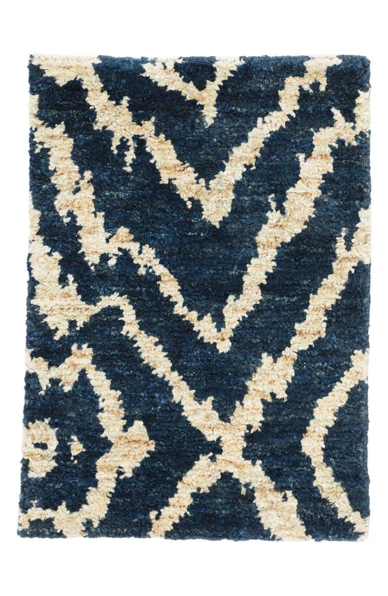 DASH & ALBERT Sahara Jute Rug, Main, color, BLUE
