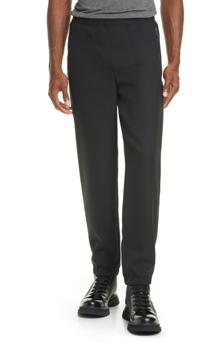 NEIL BARRETT Tonal Stripe Jogger Pants, Main, color, BLACK/BLACK