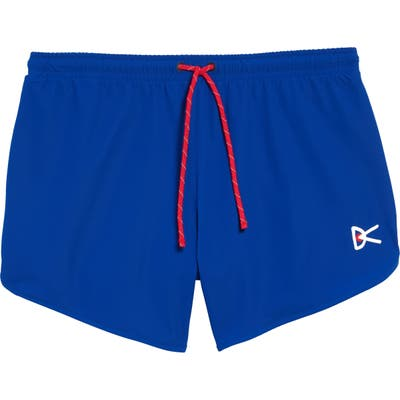 District Vision Spino Performance Shorts, Blue