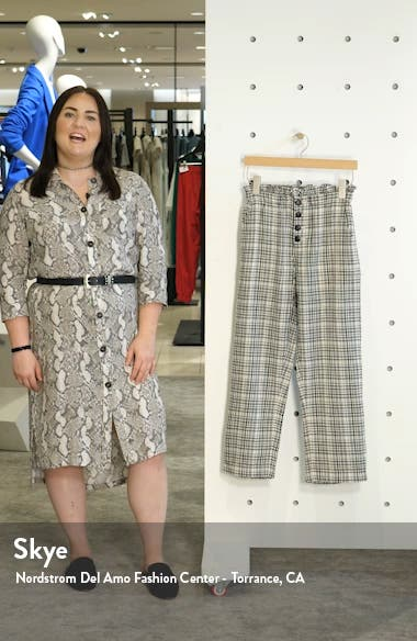 The Gunny Sack Plaid Paperbag Waist Trousers, sales video thumbnail