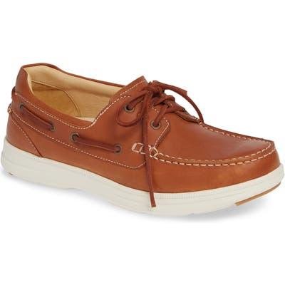 Samuel Hubbard New Endeavor Moc Toe Boat Shoe- Brown