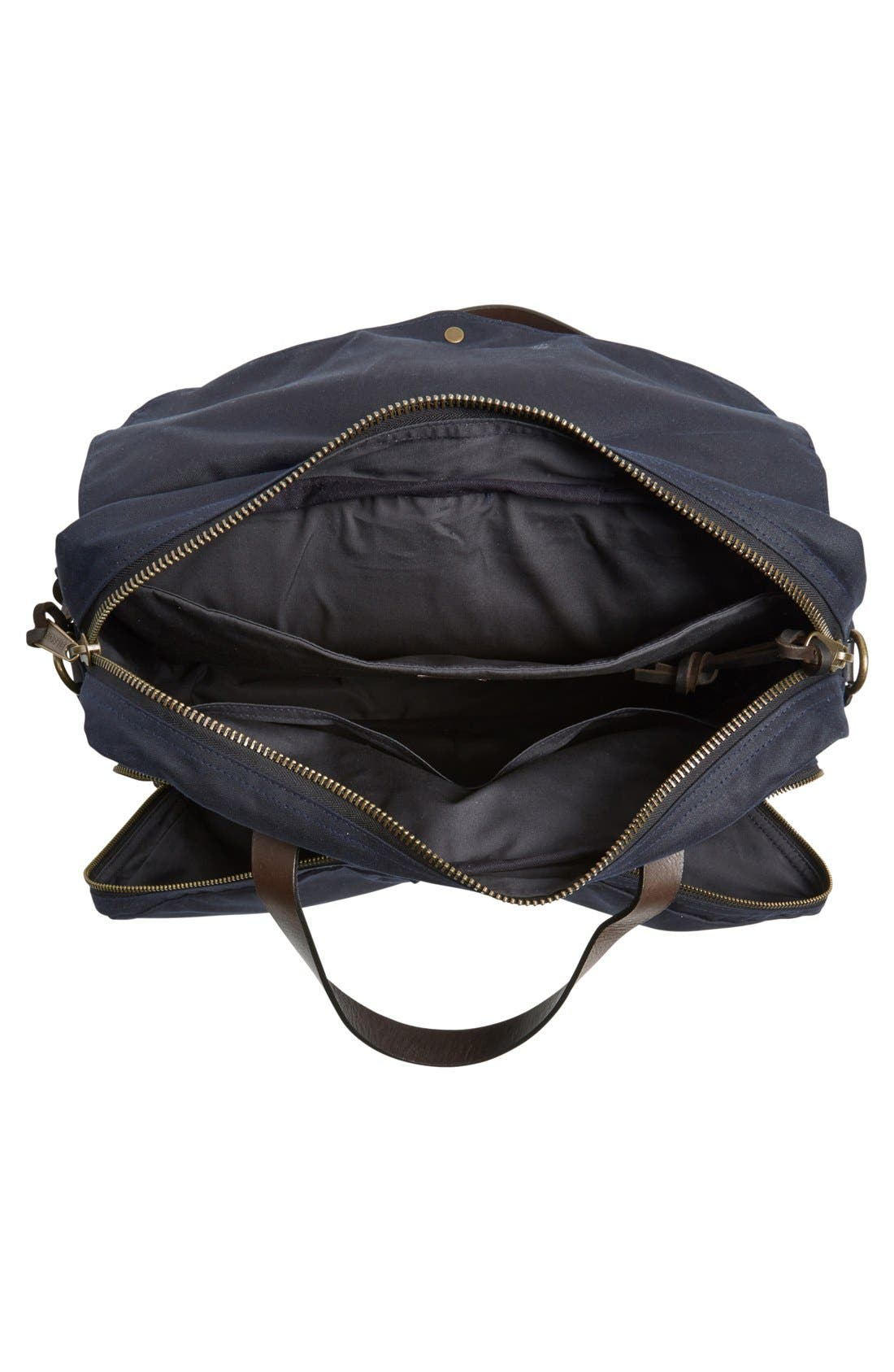 ,                             '24 Hour' Tin Cloth Briefcase,                             Alternate thumbnail 5, color,                             NAVY
