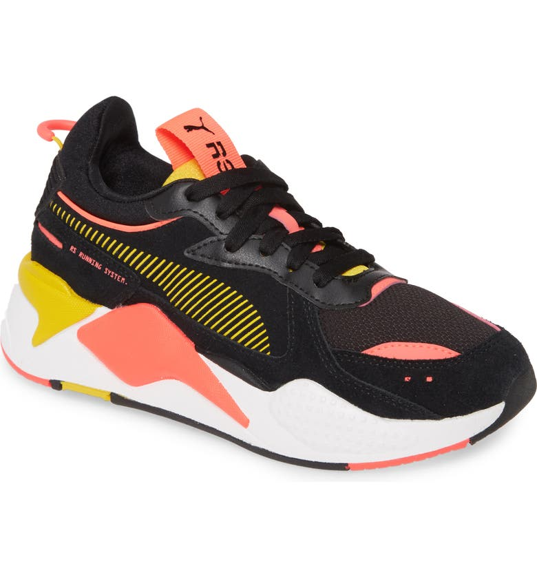 PUMA RS-X Reinvention Sneaker, Main, color, PUMA BLACK/ SULPHUR