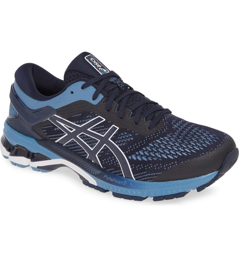 ASICS<SUP>®</SUP> GEL-Kayano<sup>®</sup> 26 Running Shoe, Main, color, MIDNIGHT/ GREY