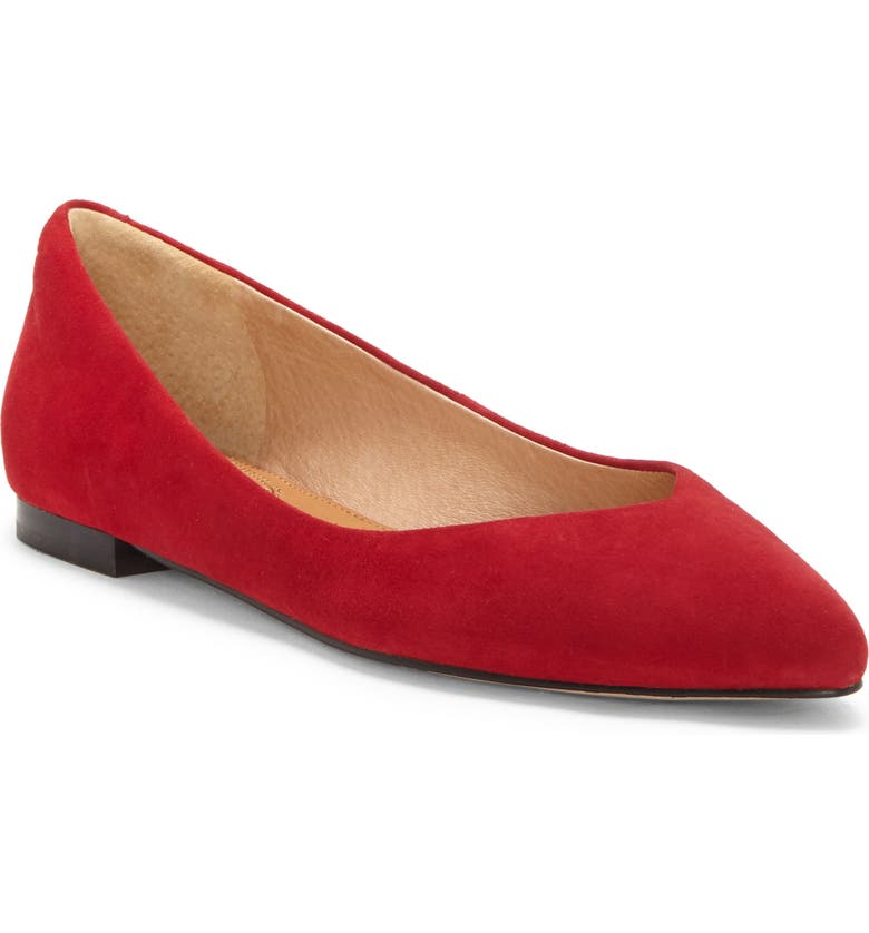 CC CORSO COMO<SUP>®</SUP> Jullia Flat, Main, color, RED SUEDE