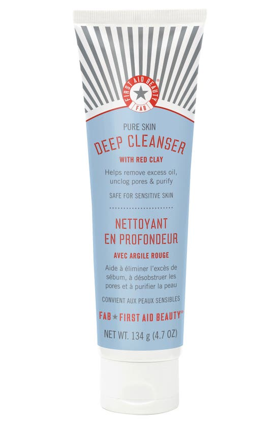 First Aid Beauty Pure Skin Deep Cleanser With Red Clay 139ml-no Color