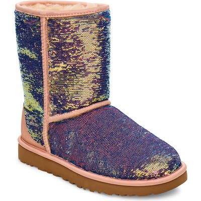 UGG Classic Cosmos Sequin Short Boot, Pink