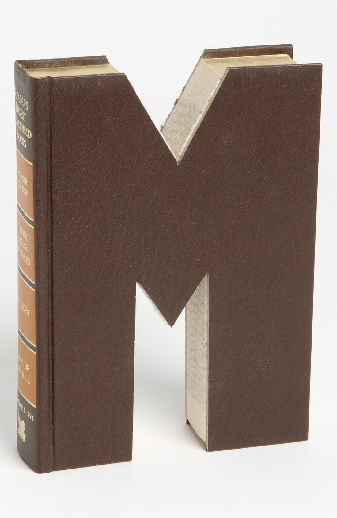 ,                             'One of a Kind Letter' Hand-Carved Recycled Book Shelf Art,                             Main thumbnail 61, color,                             212