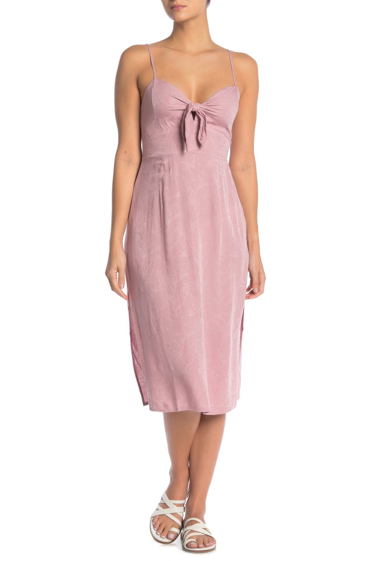 Image of L*Space Amanda Tie Front Midi Cover-Up Dress