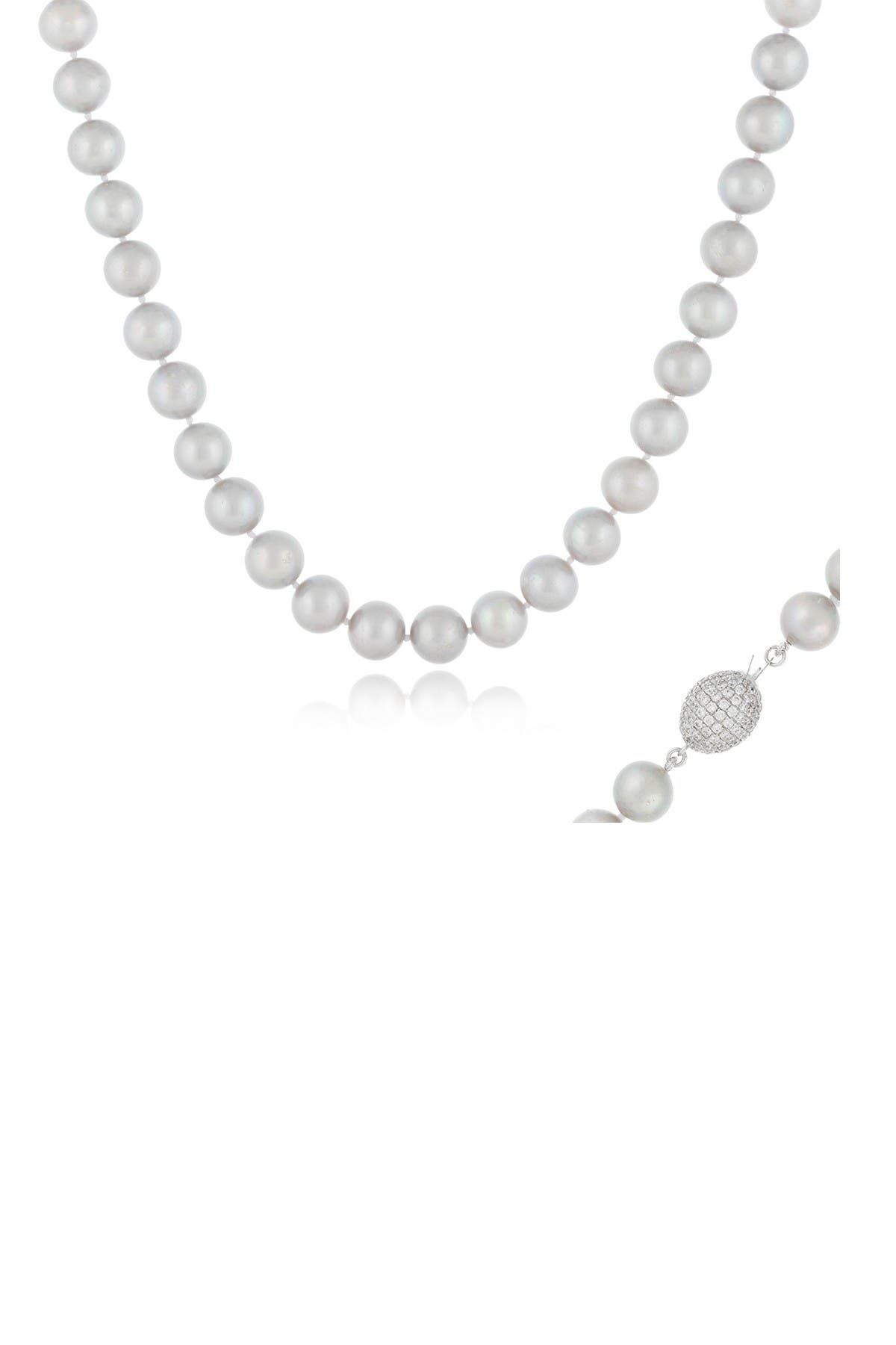 Image of Splendid Pearls Dyed 8-9mm Freshwater Pearl Strand Necklace