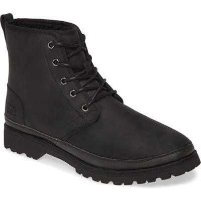 UGG Harkland Waterproof Plain Toe Boot, Black