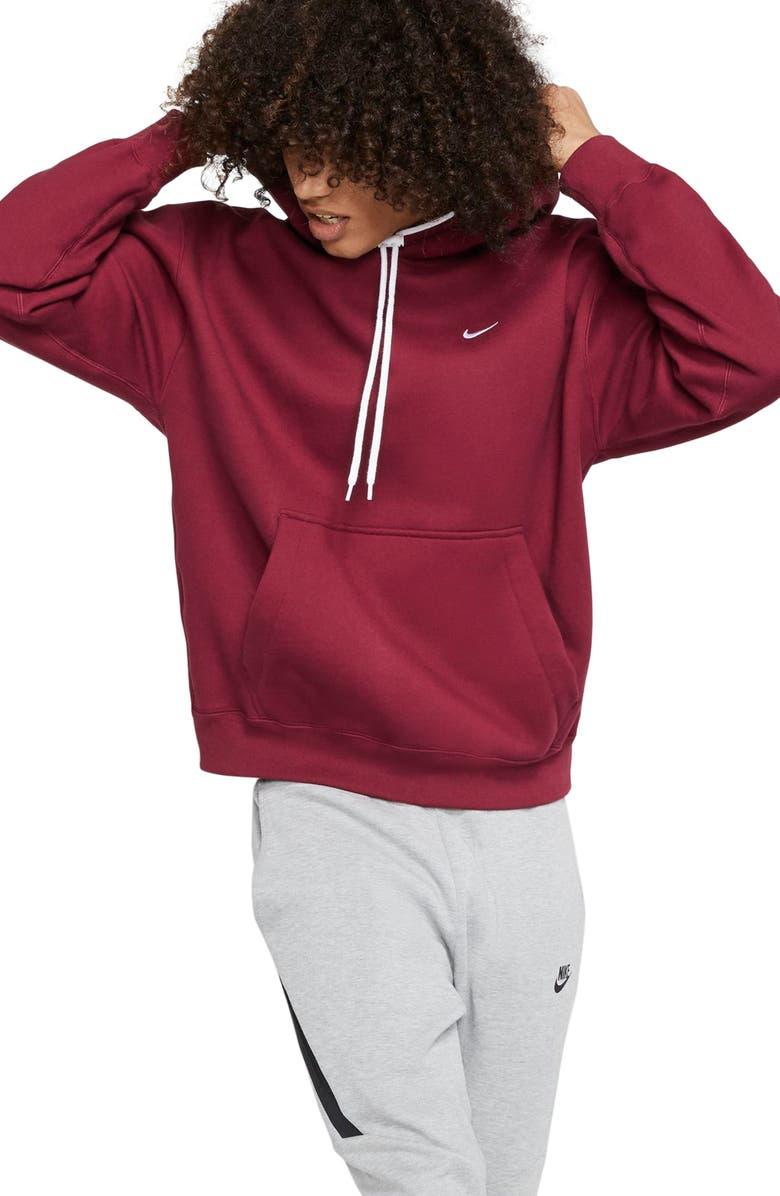 NIKE Hooded Sweatshirt, Main, color, TEAM RED/ WHITE