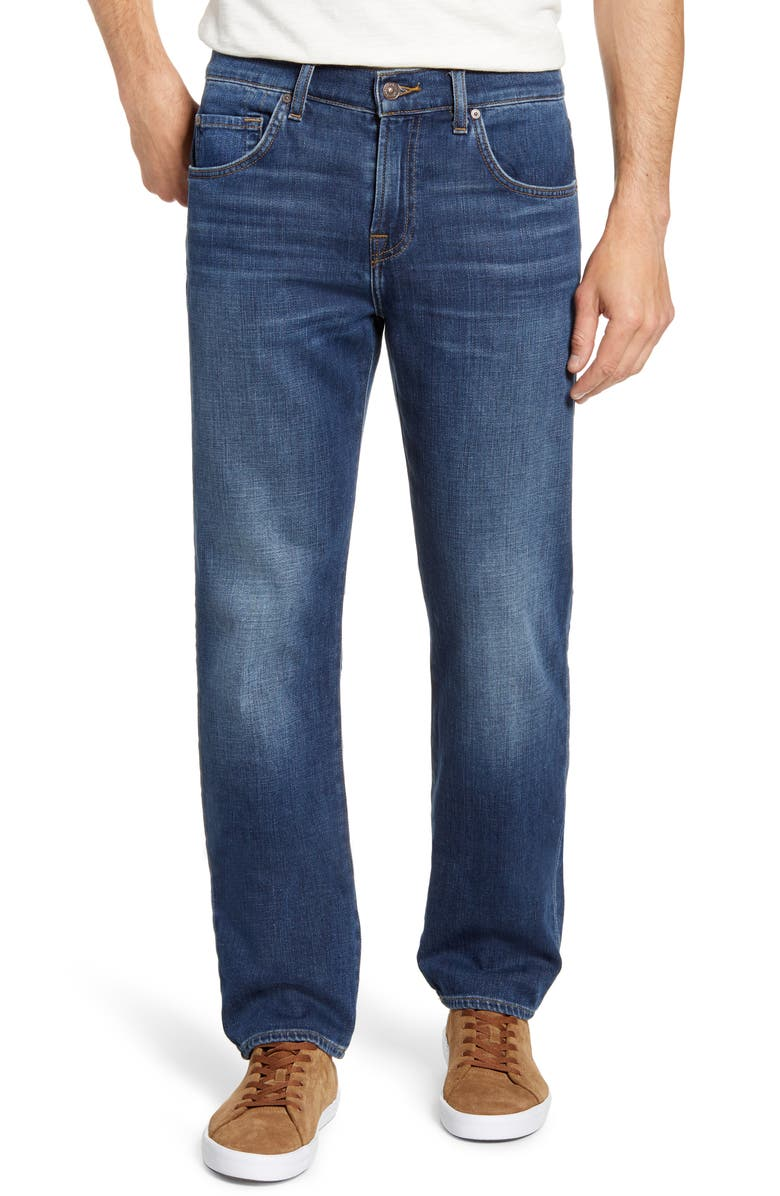 7 FOR ALL MANKIND<SUP>®</SUP> The Straight Series 7 Slim Straight Leg Jeans, Main, color, FINALLY FREE