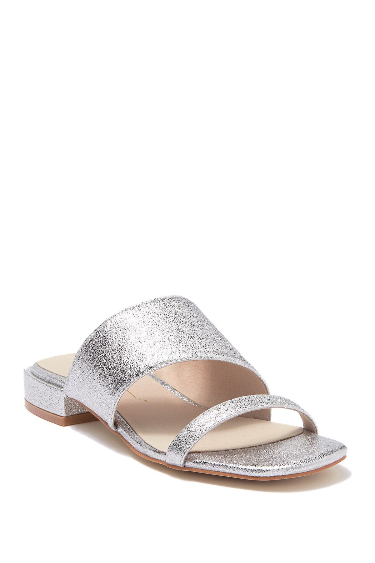 Image of Intentionally Blank Jes Silver Short Block Heel Sandal