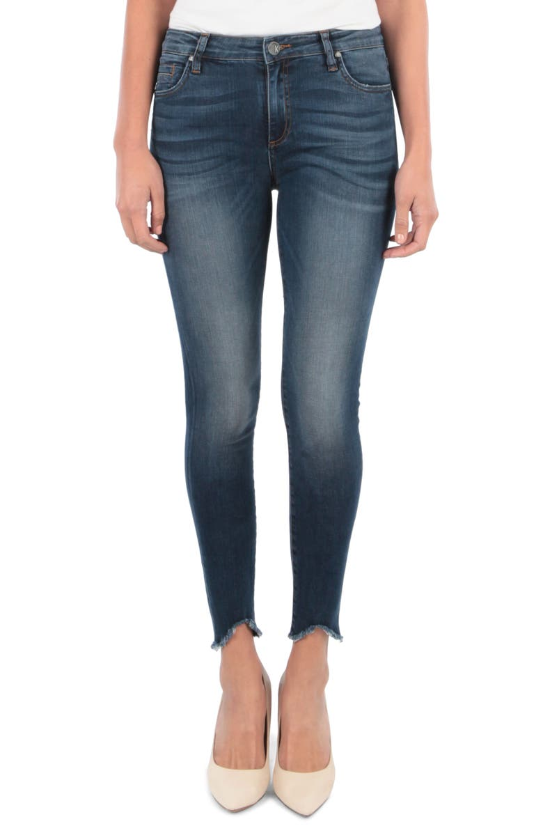 KUT FROM THE KLOTH Connie Ankle Skinny Jeans, Main, color, BEHAVE