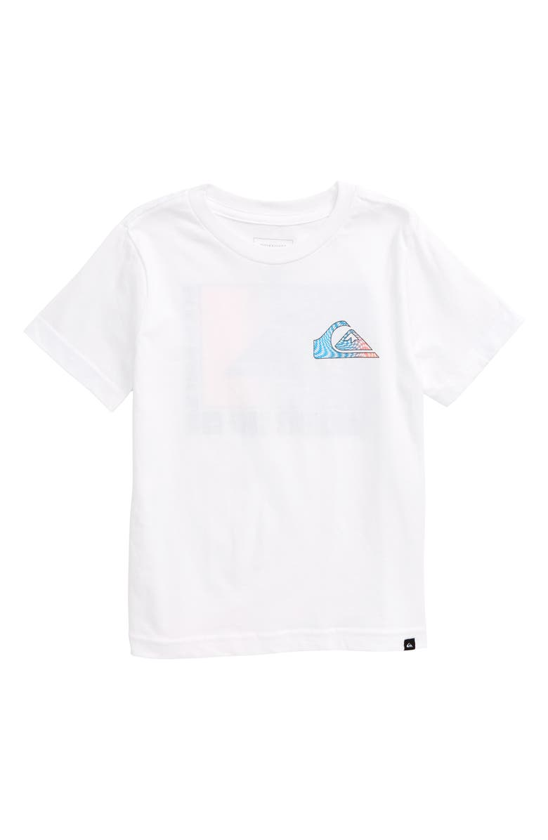 QUIKSILVER Mirror Play Graphic Tee, Main, color, WHITE