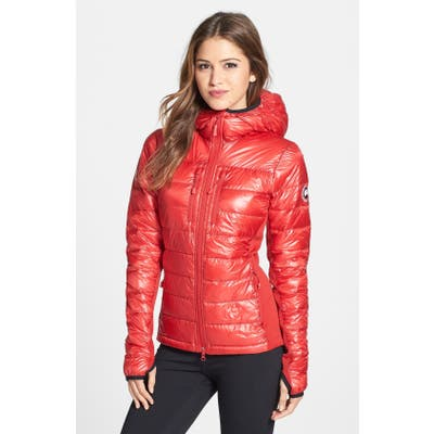 Canada Goose Hybridge Lite Hooded Packable Down Jacket, (10-12) - Red