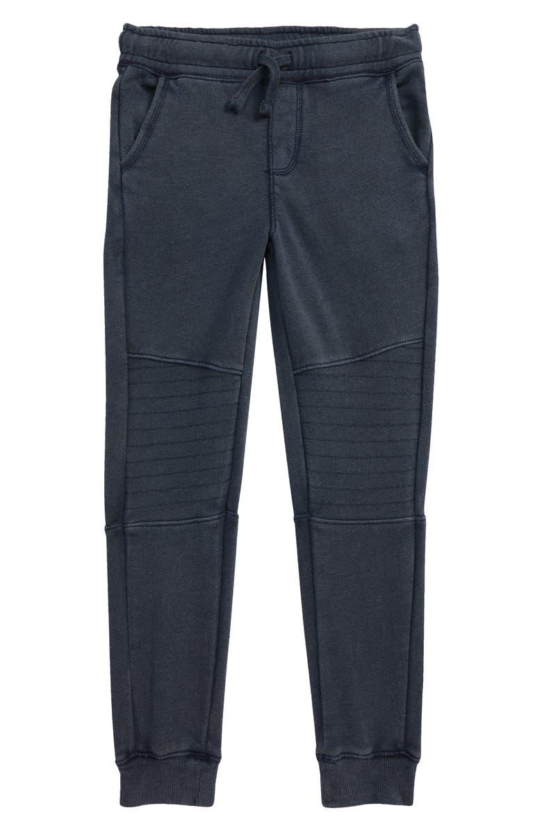 TUCKER + TATE Moto Jogger Pants, Main, color, NAVY CHARCOAL