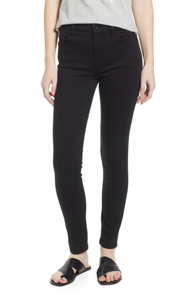 JEN7 BY 7 FOR ALL MANKIND Skinny Jeans, Main, color, CLASSIC BLACK NOIR