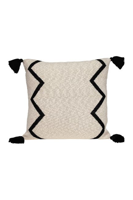Image of Parkland Collection Zinga Transitional Beige/Cream Throw Pillow