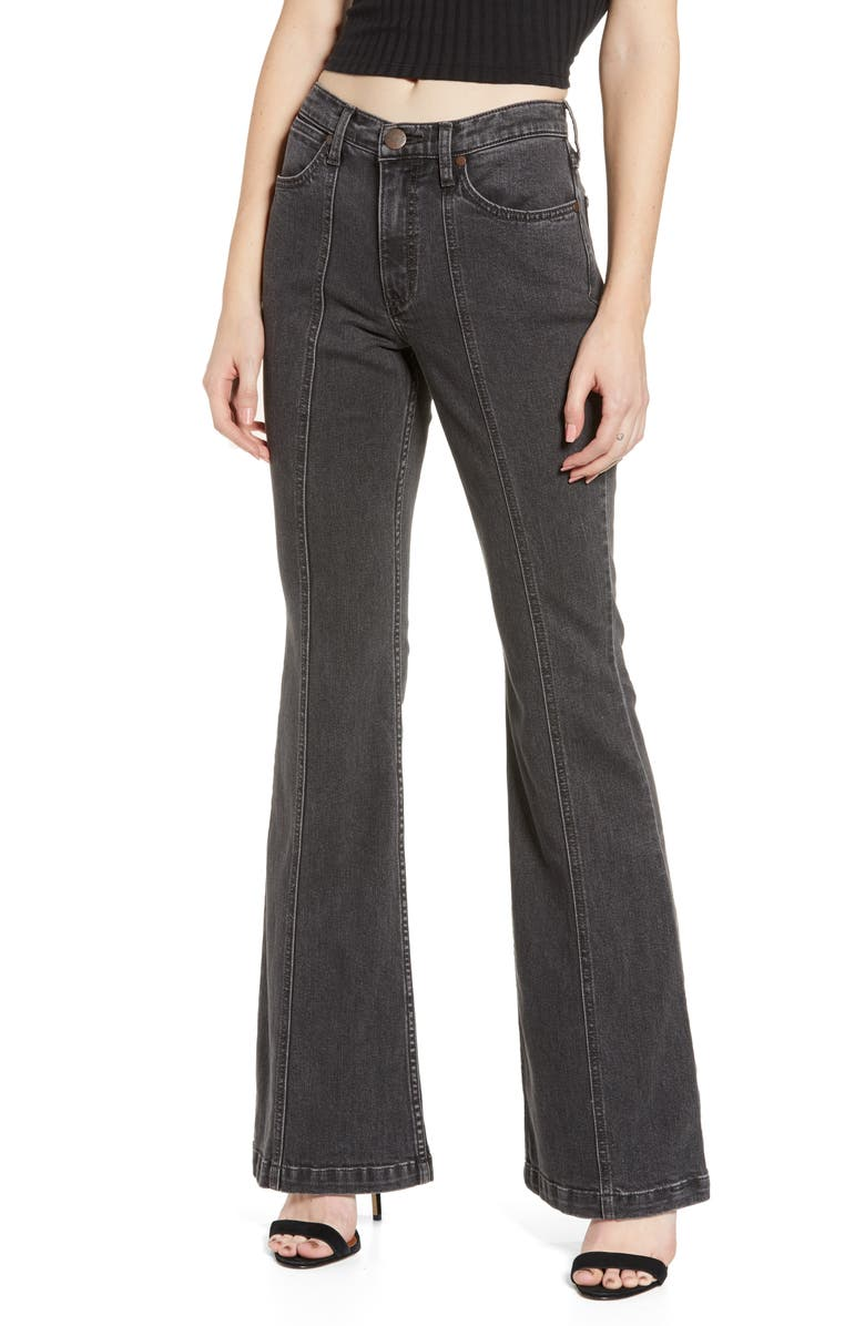 Wrangler Seamed Flare Jeans Charcoal