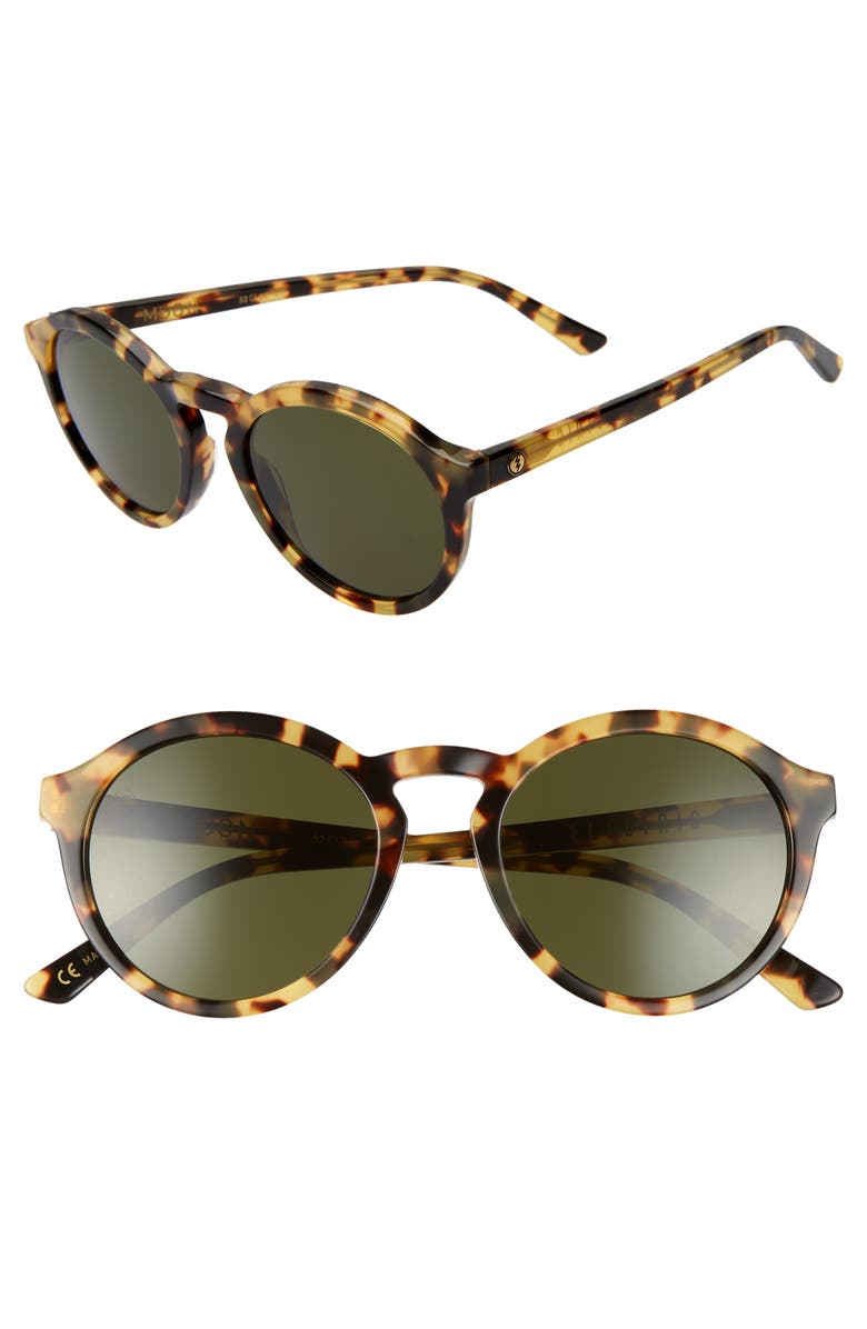 ELECTRIC Moon 52mm Round Sunglasses, Main, color, 200