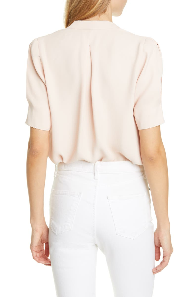 JOIE Ance V-Neck Silk Blouse, Main, color, PINK SKY
