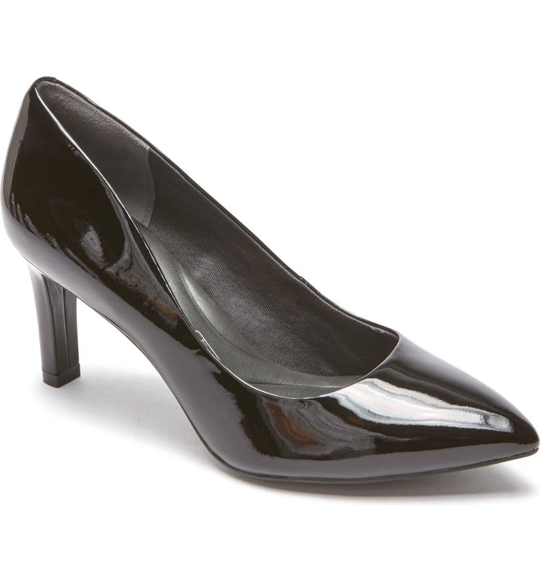ROCKPORT Total Motion Luxe Valerie Pump, Main, color, BLACK PATENT LEATHER