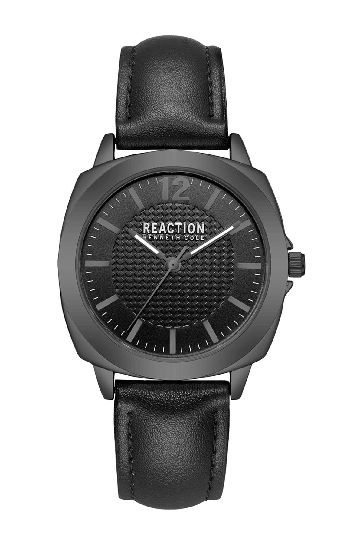 Image of Kenneth Cole Reaction Women's Leather Strap Watch, 36mm