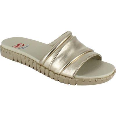 National Comfort Orillia Slide Sandal, Metallic