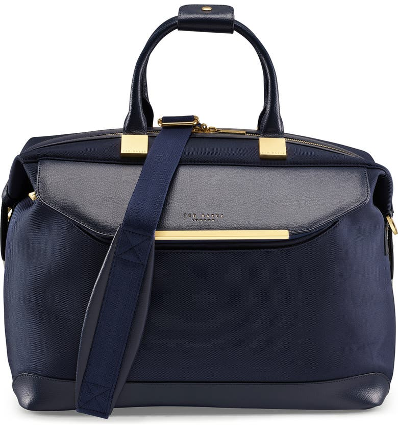 TED BAKER LONDON Small Albany Duffel Bag, Main, color, NAVY