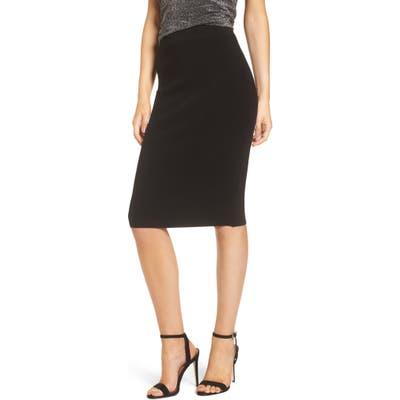 Leith High Waist Body-Con Skirt, Black