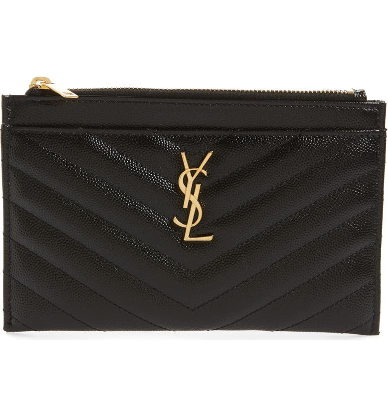 Monogram Quilted Leather Pouch by Saint Laurent