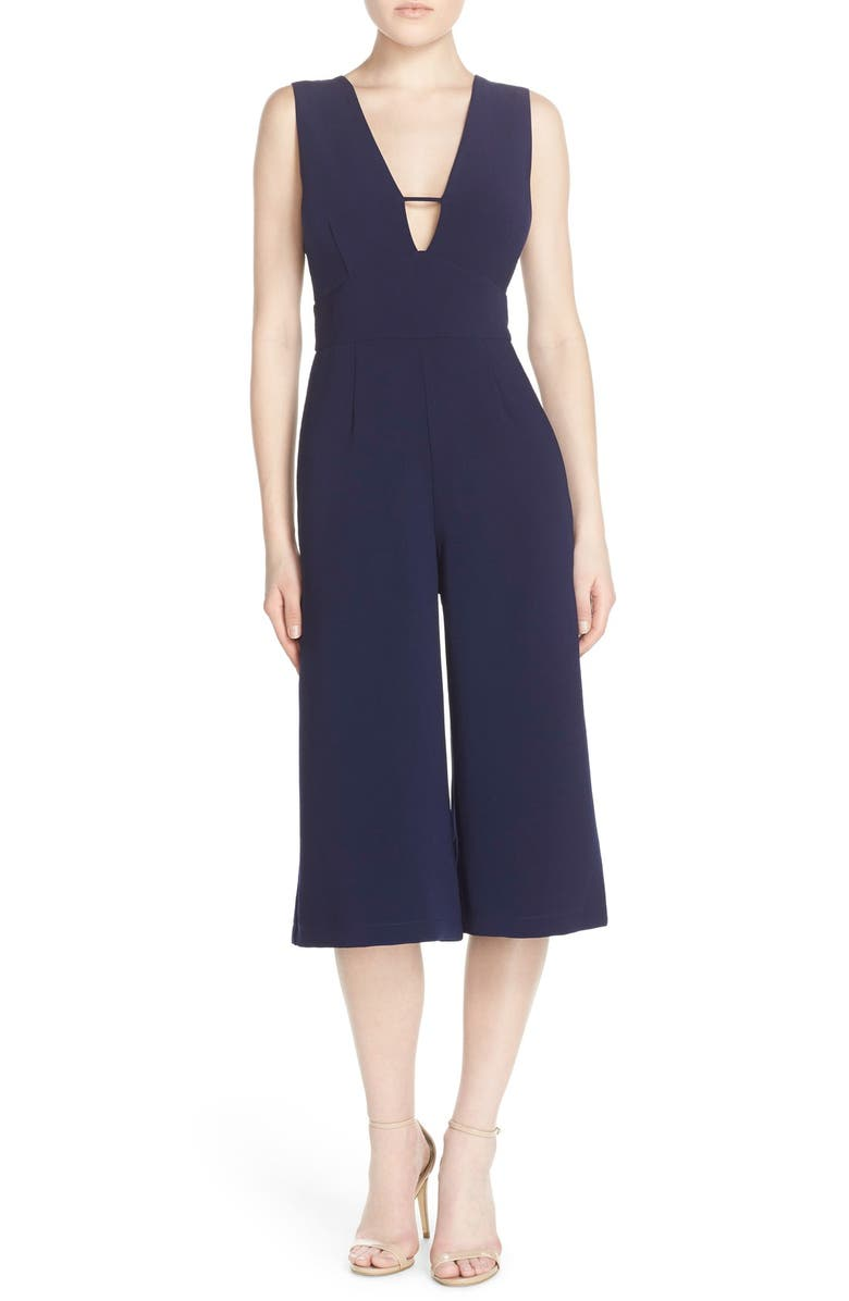 ADELYN RAE Sleeveless Culotte Jumpsuit, Main, color, 410