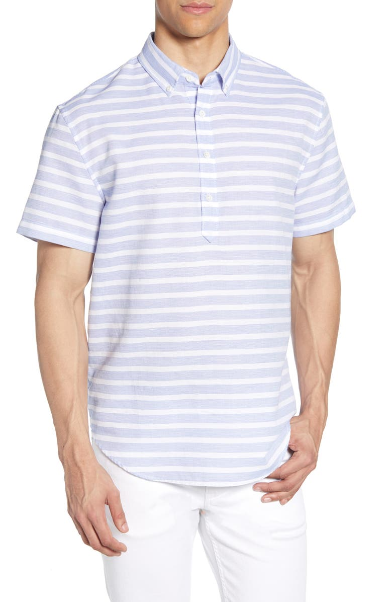 BONOBOS Oxford Pullover Slim Fit Shirt, Main, color, CALLE STRIPE S