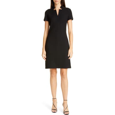 St. John Collection Micro Boucle Knit Dress, Black