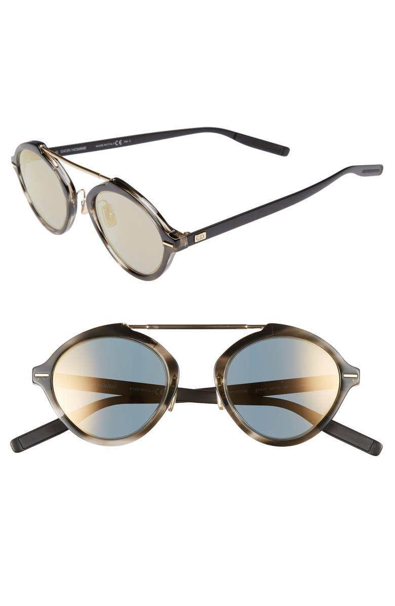 DIOR System 49mm Sunglasses, Main, color, HAVANA MATTER BLACK/ GREY