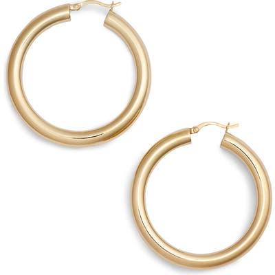 Argento Vivo Medium Hollow Hoop Earrings
