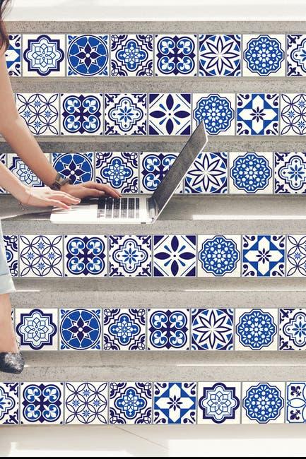Image of WalPlus Blue Spanish & Moroccan Wall Sticker Decal